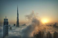 The Best of National Geographic_ Burj Khalifa Dubai Places To Travel, Places To See, Places Around The World, Around The Worlds, National Geographic Photo Contest, Concours Photo, Dubai Skyscraper, Dubai Tower, Cloud City