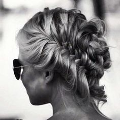 #MessyBraid #braids .. around the head fishtail French braid - maybe with this messy look, people wouldn't realize that I just suck at braids around the back of my head lol!