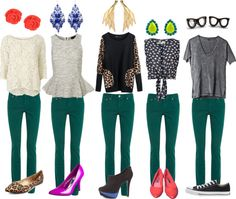 """""""Emerald Jeans"""" by sunshineitgirl on Polyvore"""