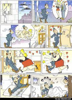 Images Fun sexy N°3645 - L'Évadé Adult Cartoons, Adult Humor, Funny Cartoons, Funny Comics, Image Fun, Twisted Humor, Comic Art, Haha, Funny Pictures