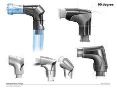 Mooie schetsen van relatief technische producten. Hydrapak by Mark Palmer at Coroflot.com