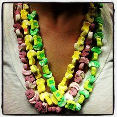 st pattys day necklace treats :) <3 yum.