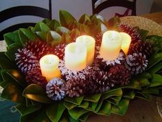 Centerpiece: From Christmas to Winter