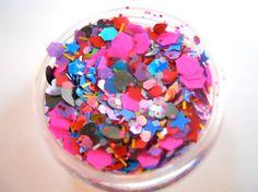 Neon Pink and Black Heart Solvent Resistant von BoroughBabeSupply, $2.50