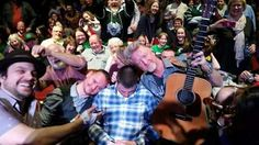 Gaelic Storm clowning around. Dude fell asleep in the 2nd row. Saturday 14th February 2015.