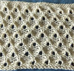 Stirrup Eyelet - great texture - must order the Walker books someday - also try checking KnittingFool website for stirrup eyelet