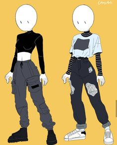 skizzen zeichnen aesthetic oufits in draw by chesiart Fashion Design Drawings, Fashion Sketches, Art Drawings Sketches, Cute Drawings, Outfit Drawings, Character Outfits, Character Art, Animation Character, Funny Character