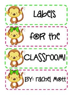 FREE Labels For The Classroom :) - free download