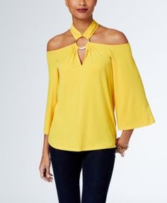 MICHAEL Michael Kors Embellished Cold-Shoulder Top, a Macy's Exclusive Style | macys.com