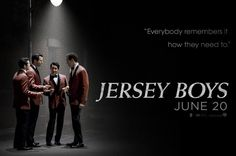 JERSEY BOYS (2014) - The story of Frankie Valli & The Four Seasons - Based on the Broadway musical - Directed by Clint Eastwood - Movie Poster.