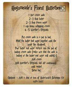 Butterbeer recipe!!!