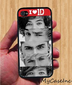 One Direction iPhone Case - Rubber Silicone iPhone 4 Case or Plastic iPhone 5 Case. $14.95, via Etsy.