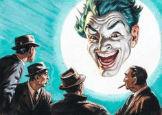 Norm Saunders & Bob Powell - Batman Trading Card Series 3 #9B (Topps 1966) Gouache