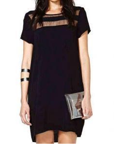 Cheap vestidos f, Buy Quality vestidos fashion directly from China dress vestidos Suppliers: 2017 Women Fashion Brand Black Casual Dresses Contrast Sheer Short Sleeve Sexy See Through Loose Dress Vestidos Look 2015, Short Sleeve Dresses, Dresses With Sleeves, Short Sleeves, Women's Dresses, Dresses 2016, Summer Dresses, Mini Dresses, Dress Vestidos