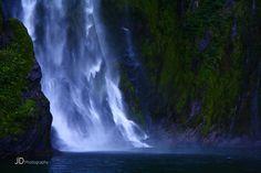 Waterfall #milford #newzealand #neuseeland #wasserfall #waterfall #landscape #reise