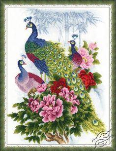 Peacocks - Cross Stitch Kits by ZOLOTOE RUNO - RS-012