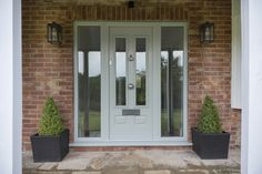 Not sure what composite door you want? Take a look at some of the beautiful composite door installations that Solidor has done and get inspired online here. Victorian Front Doors, Grey Front Doors, Front Door Porch, Porch Doors, Front Doors With Windows, Modern Front Door, House Front Door, Front Door Colors, House With Porch