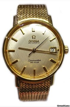 Omega Seamaster DeVille ad: £3,250 Omega Seamaster DeVille Automatic Date 14k Gold on Bracelet 1966 Yellow gold; Automatic; Condition 2 (fine); Year 1966; With box; Location: United Kingdom, Lond