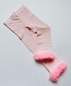 Another great find on #zulily! Pink Ruffle Leggings - Infant, Toddler & Girls by Alejandra Kearl Designs #zulilyfinds