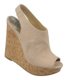 Another great find on #zulily! Nude Maui Wedge Sandal by Carlos by Carlos Santana #zulilyfinds
