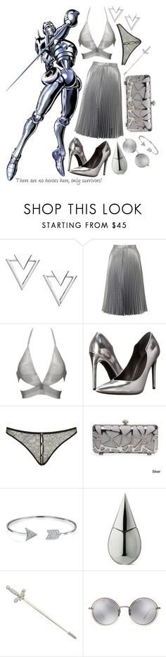 """JBA Stands: Silver Chariot"" by freezespell ❤ liked on Polyvore featuring Nadri, Miss Selfridge, Fannie Schiavoni, Kendall + Kylie, Agent Provocateur, Bling Jewelry, La Prairie and Linda Farrow"