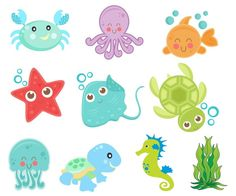 Apliques Fundo Do Mar - Cartoon fish - Felt Crafts, Diy And Crafts, Crafts For Kids, Paper Crafts, Under The Sea Party, Sea Theme, Ocean Themes, Mermaid Birthday, Baby Shark
