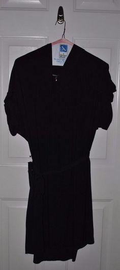 GAP Maternity BLACK COWL NECK SHORT SLEEVE CAREER DRESS W/ TIE BELT Sz. XL #GAP #LittleBlackDress
