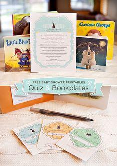10 Creative Childrens Book Themed Baby Shower Ideas + Free Printable Quiz & Bookplates via http://blog.hwtm.com/2013/05/10-childrens-book-themed-baby-shower-ideas-free-printables/