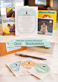 10 Creative Childrens Book Themed Baby Shower Ideas + Free Printable Quiz & Bookplates via http://blog.hwtm.com/2013/05/10-childrens-book-themed-baby-shower-ideas-free-printables/