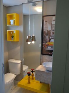 Grooms in Trouble: Sweet Home: Yellow Its Beautiful # 3 - Bathroom, Grooms in Trouble: Sweet Home: Yellow Its Beautiful # 3 - Bathroom. Modern Bathroom, Small Bathroom, Bathroom Yellow, Decoration Design, Bath Decor, Eclectic Decor, Amazing Bathrooms, Sweet Home, Interior Decorating