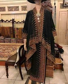 Kebaya Lace, Batik Kebaya, Kebaya Dress, Batik Blazer, Blouse Batik, Batik Dress, Batik Fashion, Ethnic Fashion, Hijab Fashion