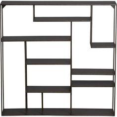 Storage Furniture - alcove wall shelf | CB2 - metal shelves, metal bookshelf, metal bookcase, modern metal wall shelf,
