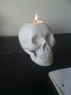 skull candle holder #home #decor