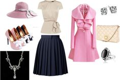 """pretty in pink"" by littlefurbyperkins on Polyvore"