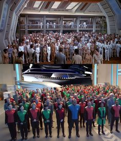 """So, we have a still from ST:TMP, and a recent capture from FOX's recent Seth MacFarlane concept """"The Orville"""". If I hadn't spied Brannon Braga's name as exec producer, and ol' Tom Paris (aka Robert Duncan McNeill) himself as director of the pilot episode, I'd be wondering if CBS/Paramount's lawyers knew what was going on ..."""