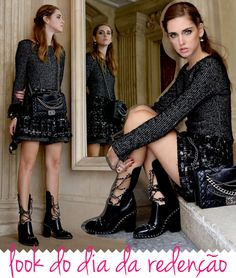 look-do-dia-chiara-ferragni-paris-fashion-week-pfw-chanel-bota-saia-tweed-bolsa-matelasse-chanel-blonde-salad