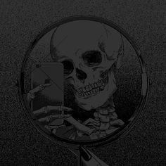 Gothic Wallpaper, Skull Wallpaper, Black Aesthetic Wallpaper, Aesthetic Wallpapers, Dragon Wallpaper Iphone, Black Phone Wallpaper, Purple Wallpaper, Dark Art Illustrations, Illustration Art