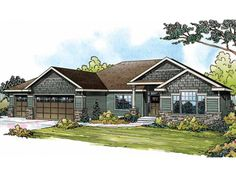 Craftsman House Plan with 2316 Square Feet and 3 Bedrooms from Dream Home Source | House Plan Code DHSW72987
