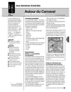 """L'écoute attentive du """"Carnaval des animaux"""" de Saint-Saëns servira de support à plusieurs séances d'activités relevant de divers domaines: &quot..."""