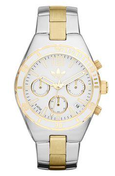adidas Originals 'Melbourne' Small Chronograph Bracelet Watch