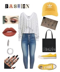 """F•a•s•h•i•o•n"" by envysamiexx on Polyvore featuring Wildfox, Seven7 Jeans, Converse, Forever 21, adidas, Dana Rebecca Designs and plus size clothing"
