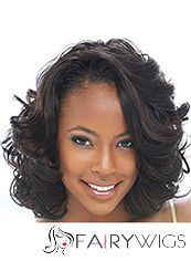 2015 Fashion Trend Medium Wavy Brown African American Lace Wigs for Women 14 Inch