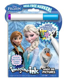 Frozen Imagine Ink Activity Book by Frozen #zulilyfinds  No coloring anywhere but the book:)