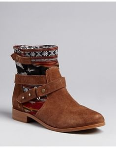 Cynthia Vincent Harness Booties -...