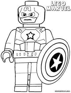 New Lego Avengers Coloring Pages