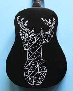 Geometric Deer Hand-Painted Ukulele by UkuLeeShee on Etsy