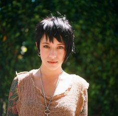 Lou O'Bedlam, also known as Lou Noble, is a photographer from Los Angeles. Lou focuses on portraits; Cute Hairstyles For Short Hair, Girl Short Hair, Pixie Hairstyles, Pretty Hairstyles, Short Hair Cuts, Curly Hair Styles, Asymmetrical Bangs, Asymmetric Bob, Cute Bangs