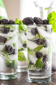Blackberry Mint Agua Fresca