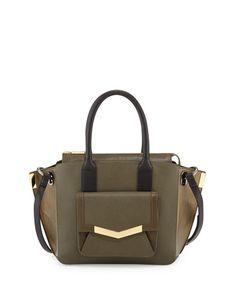 Jo Mini Saffiano Three-Tone Tote Bag, Militaire Multi by Time\'s Arrow at Neiman Marcus.