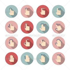 GraphicRiver Hand Touch Gestures Icons Set 7281147